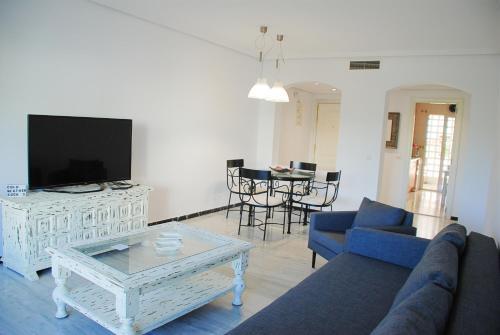 A seating area at Excellent Location Lovely Puerto Banus Apartment