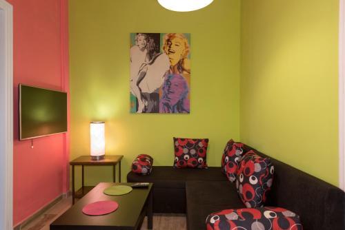 Χώρος καθιστικού στο Helena Apartments & Villas