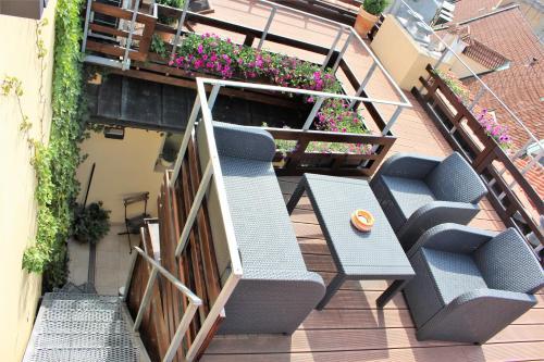 Balkon atau teras di Agnes - Apartments