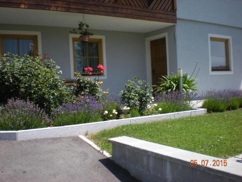 A garden outside Ferienwohnung Sabine