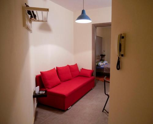 A seating area at Aphroditi Apartment
