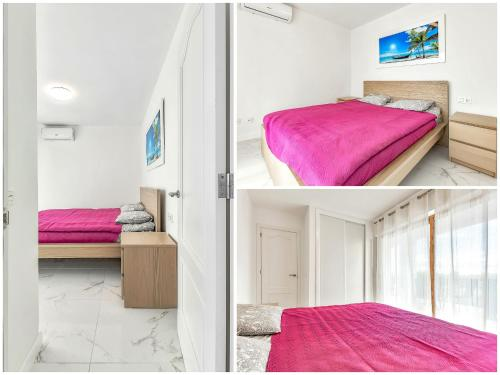 A bunk bed or bunk beds in a room at Apartmento Parque Royale I