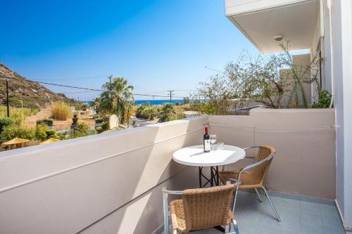 A balcony or terrace at Irinna Hotel-Apartments