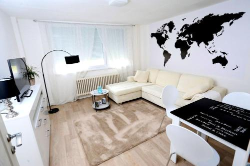 Zona de estar de Apartman City Lux