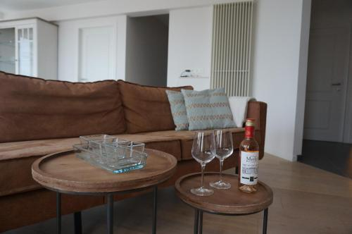 A seating area at Appartement Mariakerke-Bad Zeezicht