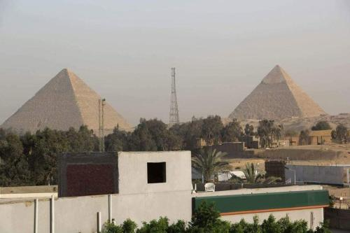 Cairo Alex Road in front of the Grand Egyptian Museum