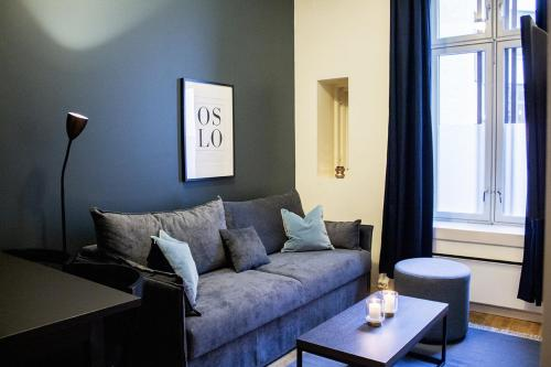 A seating area at Forenom Serviced Apartments Oslo Royal Park