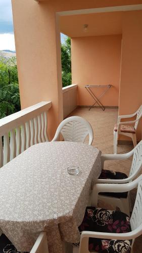 Balkón alebo terasa v ubytovaní Apartments Anđelina