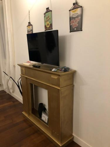 A television and/or entertainment center at GARAGE36
