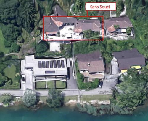 A bird's-eye view of Sans Souci Villa