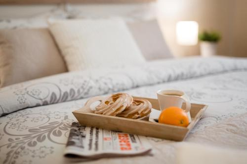 Breakfast options available to guests at Brest Central Apartment