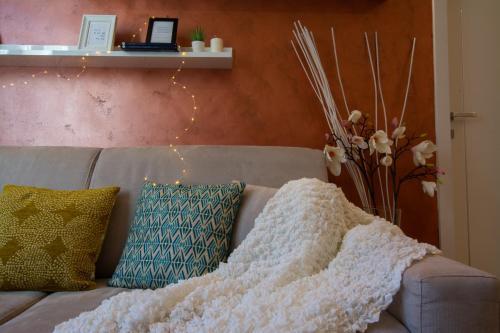 A seating area at La Dotta apartments