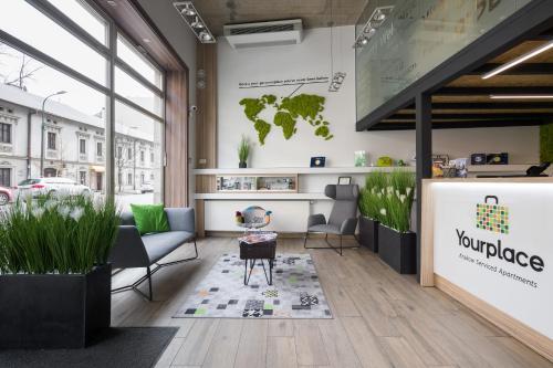 Vestibiulis arba registratūra apgyvendinimo įstaigoje Yourplace Victoria Apartments