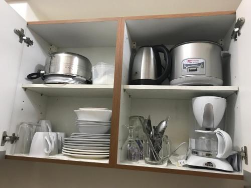 Coffee and tea-making facilities at 8 Adriatico Branson's Condotel