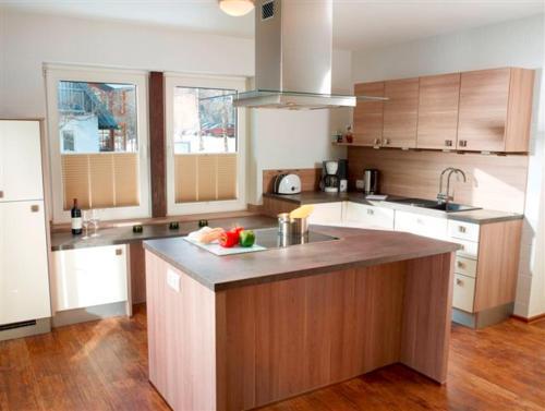 A kitchen or kitchenette at Luxus Ferienwohnung Mein kleines Edelweiss