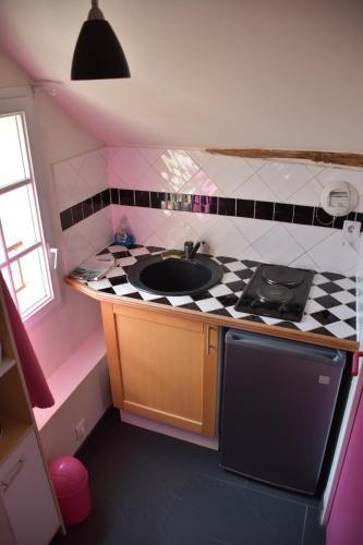 A kitchen or kitchenette at Le Vaumurier de Saint Lambert