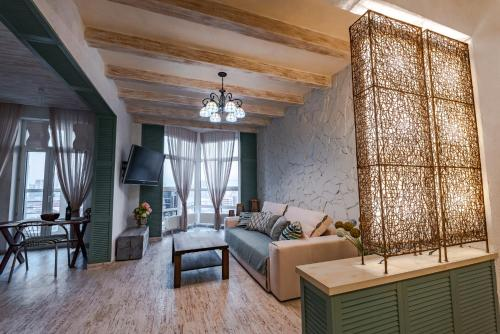 Et opholdsområde på Eco Apartments in french quarter
