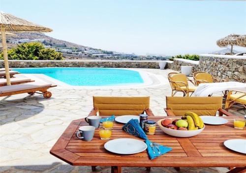 Het zwembad bij of vlak bij Happy Villas Mykonos