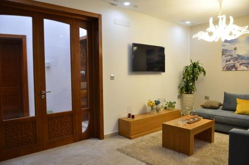 A television and/or entertainment center at Sabat
