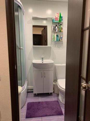A bathroom at улица Меховщиков, 7 Апартаменты
