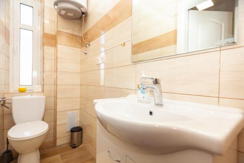 A bathroom at Lighthouse Rijeka
