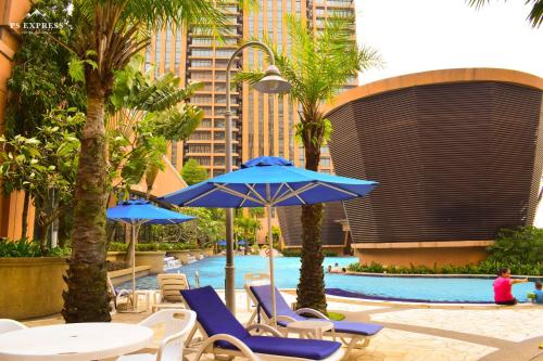 The swimming pool at or near KL Diamond Suites @times Square