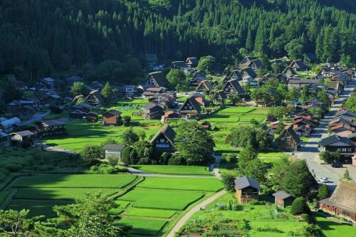 A bird's-eye view of Holiday House Shirakawago
