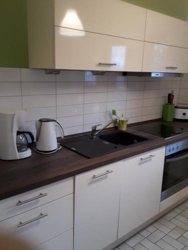 A kitchen or kitchenette at Ferienhaus Irger