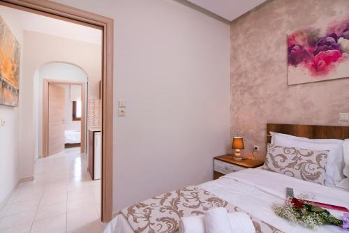 Un pat sau paturi într-o cameră la Pension Maria