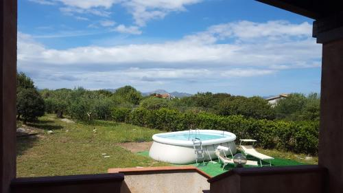 A view of the pool at Villetta in Sardegna Olbia or nearby