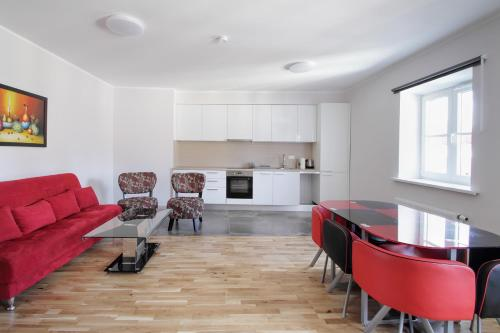 Virtuve vai virtuves aprīkojums naktsmītnē Ginosi Rigami Apartel