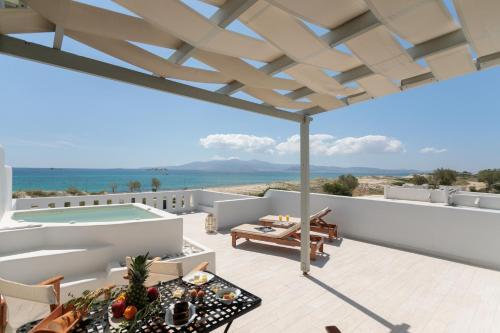 A balcony or terrace at Nikos & Maria Studios