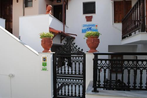 A balcony or terrace at Studios Loukia