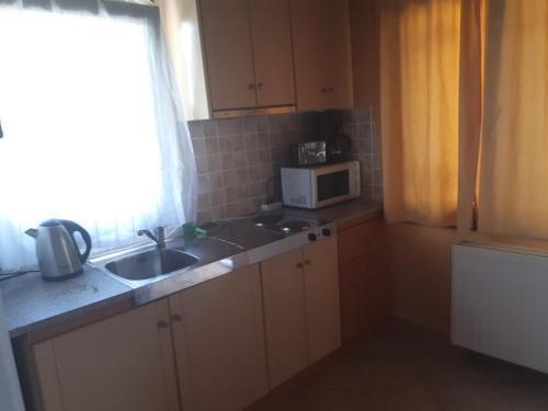 O bucătărie sau chicinetă la Sirines Apartments
