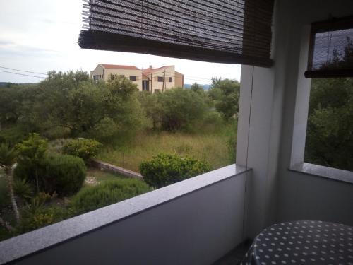 A balcony or terrace at Apartments Dora Bibinje