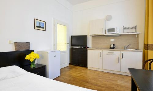 A kitchen or kitchenette at Apartments Central Park Marienbad