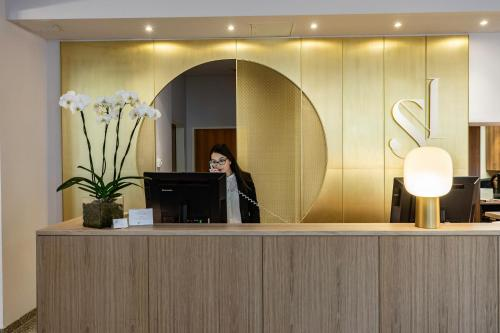 The lobby or reception area at Starlight Suiten Hotel Renngasse