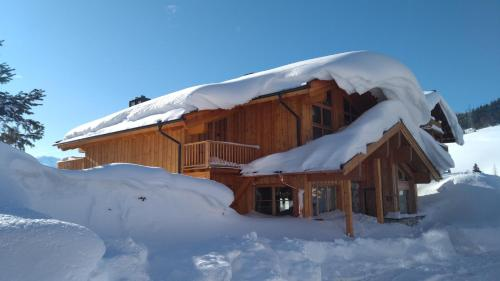 Chalet on the Lake during the winter