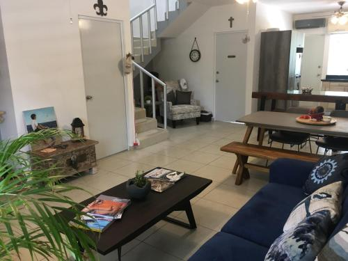 A seating area at Casa Caribe