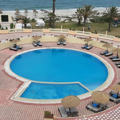 A view of the pool at Hotel Sirocco Beach or nearby