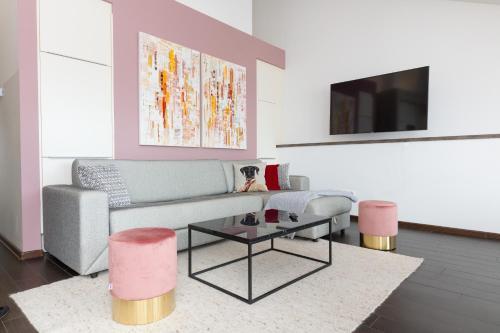 A seating area at Rafael Kaiser Premium Apartments