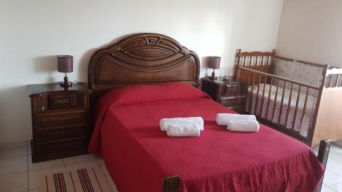 Krevet ili kreveti u jedinici u objektu Adega do Batista