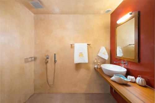 A bathroom at Luxury Villa Eftihia Lindos