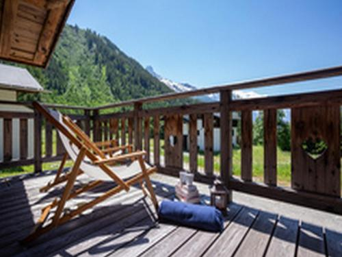 A balcony or terrace at Chalet Majorette