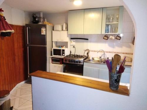 A kitchen or kitchenette at Luna Azul