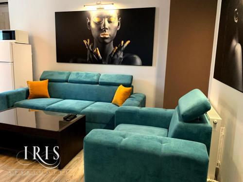 O zonă de relaxare la Apartamente Iris