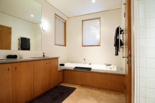 A bathroom at Larch House