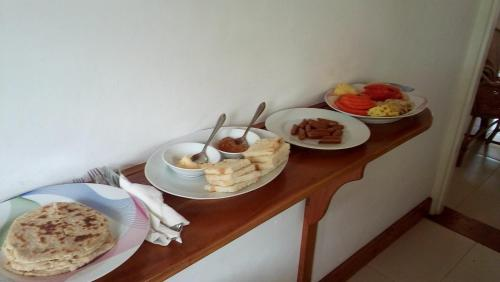 Breakfast options available to guests at Nila Villa