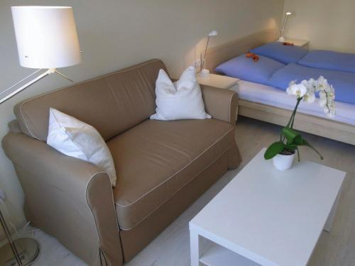 A seating area at City Lodging Apartments