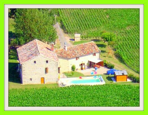 A bird's-eye view of Gite Chez Theophile